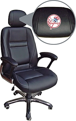 Wild Sports MLB Leather Executive Chair, New York Yankees