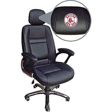 Wild Sports MLB Leather Executive Chair, Boston Red Sox