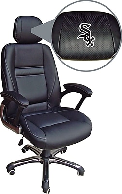Wild Sports MLB Leather Executive Chair, Chicago White Sox