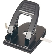OIC Adjustable Center Heavy-Duty 2-Hole Punch, 30 Sheets/20 Lb., Black