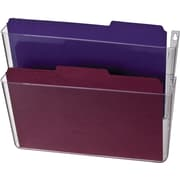 "Officemate® Wall Files, 2 Pockets, Letter, Clear, 13"" x 4 1/8"" x 10 5/8"""