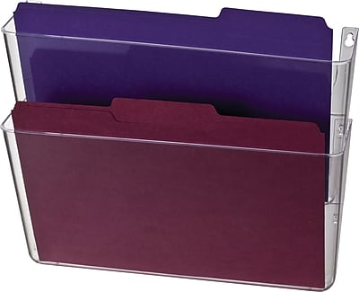 Officemate® Wall Files, 2 Pockets, Letter, Clear, 13