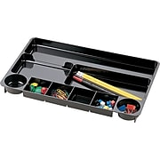 """Officemate® Drawer Organizer Tray, 9 Compartments, Black, 1 1/2""""H x 14""""W x 9""""D"""