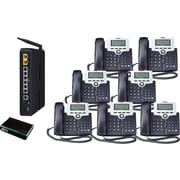 XBLUE X-50 VoIP Office Telephone System, 7pk - Charoal