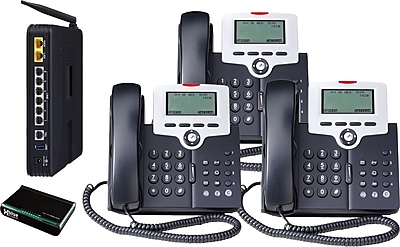 XBLUE X-50 VoIP Office Telephone System, 3pk - Charcoal