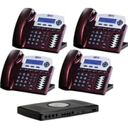 "Xblue® X16 ""Self-Install"" Digital Telephone System Bundle, 4-Pack, Red"