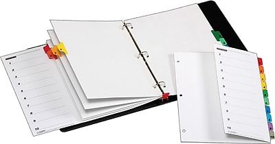 Cardinal® OneStep® Fold-Out Printable Table of Contents and Dividers, 10-Tab, Multi-Color
