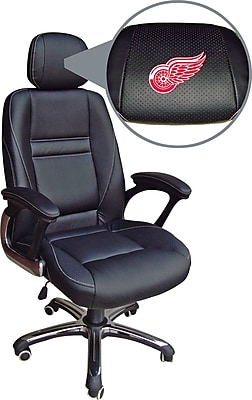 Wild Sports NHL Leather Executive Chair, Detroit Red Wings