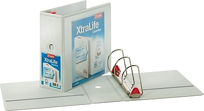 Cardinal® XtraLife® Slant-D® 3-Ring Non-Stick Locking ClearVue™ Binders, 5