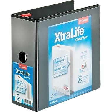 Cardinal® - Reliure XtraLife ClearVue verrouillable à anneaux en D, noire, 5 po