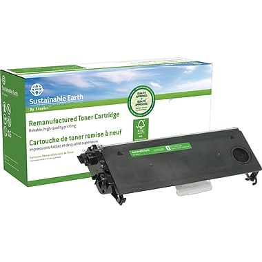 Staples® Sustainable Earth Remanufactured Black Toner Cartridge, Brother TN-350 (SEBTN350R)