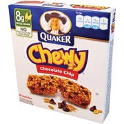 Quaker® Chewy® Chocolate Chip Granola Bars, .84 oz. Bars, 8 Bars/Box
