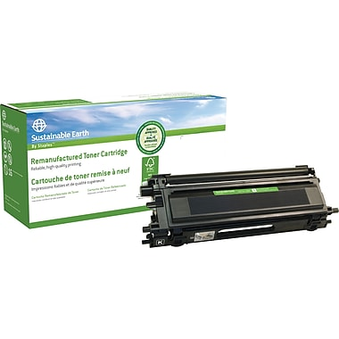 Sustainable Earth by Staples Reman Black Toner Cartridge, Brother TN115BK, High-Yield (SEBTN115B)