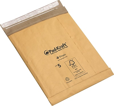"""""Pad-Kraft Self-Seal Padded Mailers, 12 1/2"""""""" x 19"""""""""""""" 397617"