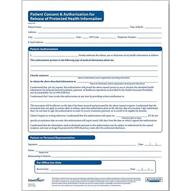 Complyright Hipaa Patient Consent And Authorization Form | Staples®