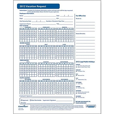 ComplyRight 2012 Vacation Request Form