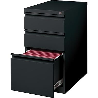 Staples 3-Drawer Mobile Pedestal File Cabinet, Black (20-Inch)