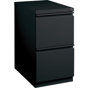Staples 2-Drawer Mobile Pedestal File Cabinet, Black (20-Inch)