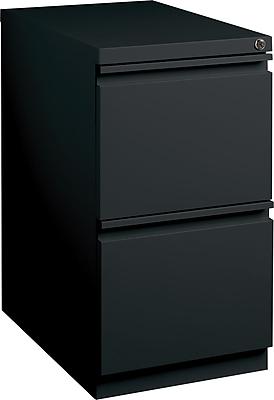 Staples 2-Drawer Mobile Pedestal File Cabinet, Black (20-Inch)