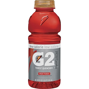 Gatorade® G2 Fruit Punch, 20 oz. Bottles, 24/Case