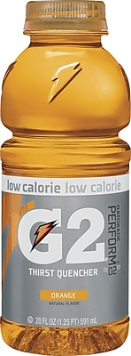 Gatorade® G2 Orange, 20 oz. Bottles, 24/Case