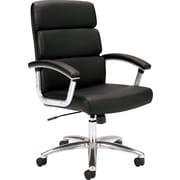 basyx by HON Leather Executive Office Chair, Fixed Arms, Black (HVL103SB11.COM) NEXT2017
