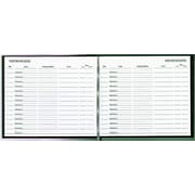National Brand® Hardcover Visitor Register Book, Black, 128 pages, 792 Entries, 8 1/2 x 9 7/8