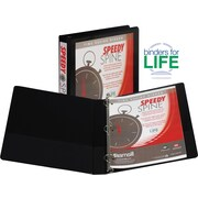 "1"" Samsill® Speedy Spine Round Ring Binder, Black"