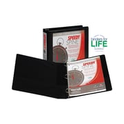 "1-1/2"" Samsill® Speedy Spine Round Ring Binder, Black"