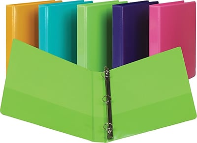 Samsill Fashion Color Durable 3 Ring View Binders, 1