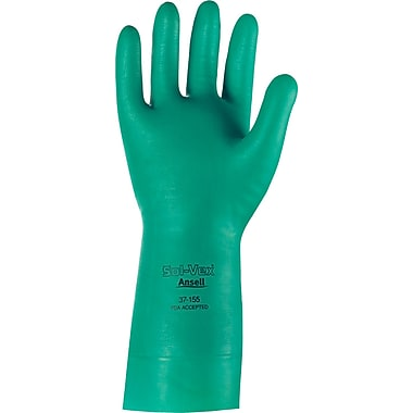 Ansell® Sol-Vex® Unsupported Nitrile Gloves, 15 mil.