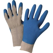 Anchor Brand Latex Coated Gloves, Cotton, Knit-Wrist Cuff, Large, Grey/Blue