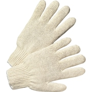 Anchor Brand® Heavy Weight String Knit Gloves, Cotton/Polyester, Large, White, 12 Pairs