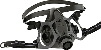 North Safety Half Mask Respirators, Silicone, Small