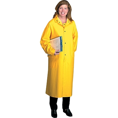 Anchor Brand Raincoats, PVC/Polyester, L Size, Snap Front Closure, Yellow