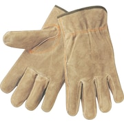 Memphis Gloves® Driver's Gloves, Split Cow Leather, Slip-On Cuff, X-Large, Cream, 12 Pairs