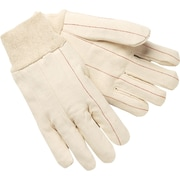 Memphis Gloves® Double Palm Hot Mill Gloves, 100% Cotton, Knit-Wrist Cuff, Large, White, 12 Pairs