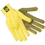 Memphis Gloves® Kevlar® Cut Resistant Gloves, Fiber, Knit-Wrist Cuff, L Size, Yellow, 12 PRS