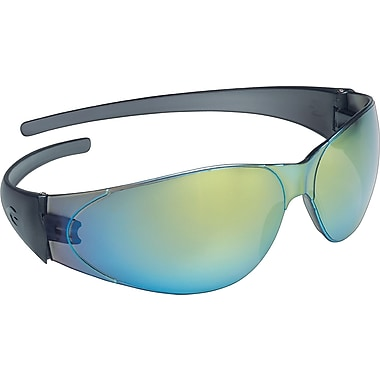 MCR Safety® Checkmate® Crews ANSI Z87 Safety Glasses, Rainbow Mirror