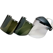 """Jackson Safety® Face Shield Replacements, Acetate, 9x15-1/2"""", Light Green, General Protection"""