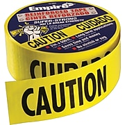 Empire® Level Safety Barricade Tapes, Yellow, Caution, 1000' Length, 3 Mil Thickness