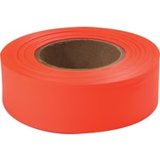Empire® Level Flagging Tape, Fluorescent Glo-Orange, 200' Length, 1/Roll