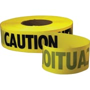 Empire® Level Safety Barricade Tape, Yellow, Caution, 1000' Length, 1/Roll