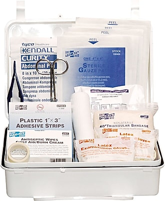 Pac-Kit Weatherproof Steel First Aid Kit, 143 pieces for 25 People