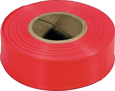 Irwin Strait-Line® Flagging Tapes, Fluorescent Red, 150' Length