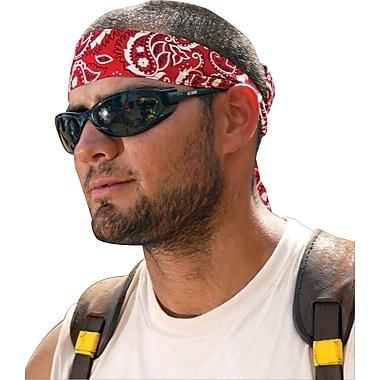 Ergodyne® Chill-Its® Bandana/Headband, Cotton, One Size, Tie, Red Western
