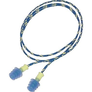 Howard Leightning® Fusion® Multiple-Use Corded Earplugs, Green, 27 dB, 100/Box