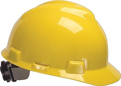MSA Safety® V-Gard® Slotted Protective Caps and Hats, Polyethylene, Cap, Standard, Gray