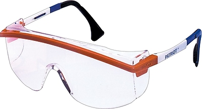 Sperian® ANSI Z87 Astrospec 3000® Safety Glasses, Gray/Red/White/Blue