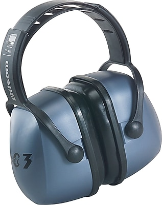 Howard Leightning® Clarity™ Over-The-Head Earmuffs, Metallic Blue, 20 dB